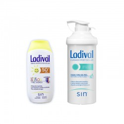 LADIVAL Protector Solar Niños SPF 50+ 200ml + After Sun 500ml de REGALO