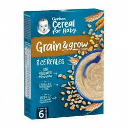 GERBER Papillas 8 Cereales +6 Meses 250g