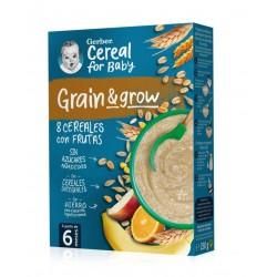 GERBER Papillas 8 Cereales con Frutas +6 Meses 250g