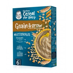 GERBER Papillas Multicereales 0% +6 Meses 180g