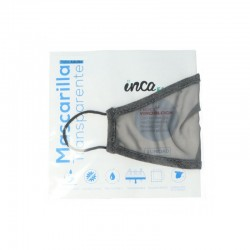 Mascarilla Homologada Reutilizable Transparente Color Gris Talla Adulto 1 Mascarilla INCA