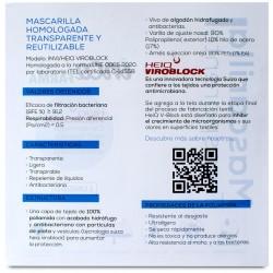 Mascarilla Transparente Homologada Reutilizable Niños (10-12 años) Blanca 1 Mascarilla - INCA