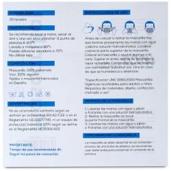 Mascarilla Transparente Homologada Reutilizable Niños (6-9 años) Color Gris 1 Mascarilla - INCA