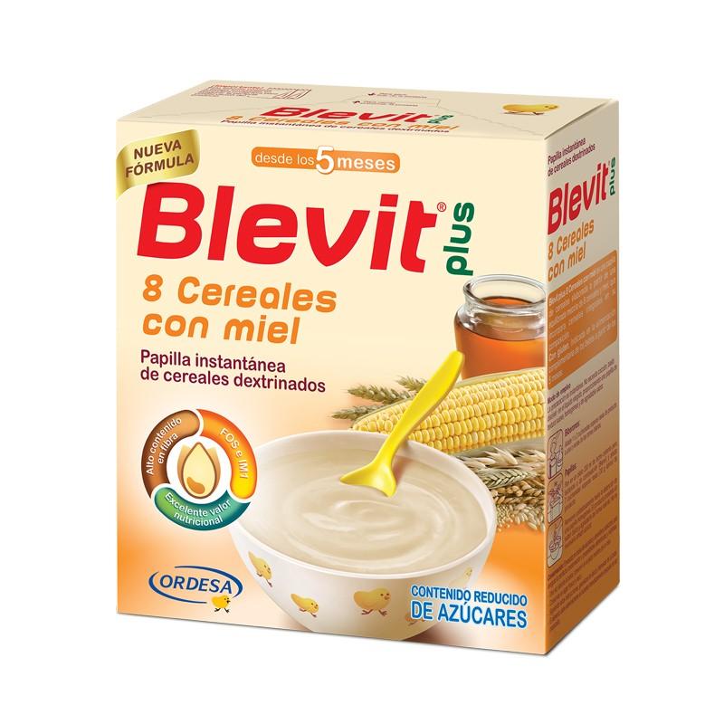 BLEVIT 8 Cereales con Miel Papilla 600g