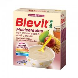 BLEVIT Multicereales con Frutos Secos, Miel y Frutas Papilla 600g