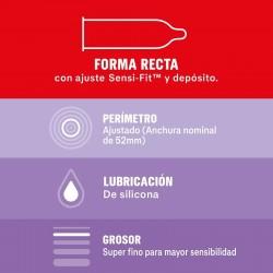DUREX Preservativo Sensitivo Contacto Total 6 unidades