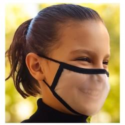 Mascarilla Reutilizable Transparente Homologada Viroblock Color Negro Talla S - BEYFE-