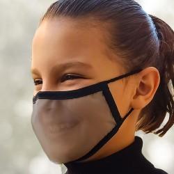 Mascarilla Reutilizable Transparente Homologada Viroblock Color Negro Talla M - BEYFE