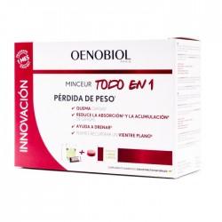 OENOBIOL Minceur Todo en 1 Pérdida de Peso 30 Sticks + 60 Comprimidos