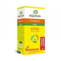 AQUILEA Vitamina C + Zinc Defensas Sabor Naranja 28 Comprimidos Efervescentes