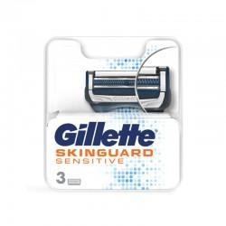 GILLETTE SkinGuard Sensitive Recambio 3 Cuchillas de Afeitar
