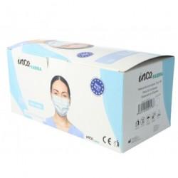 Mascarillas Quirúrgicas Blancas Adulto IIR Caja 50 unidades INCA