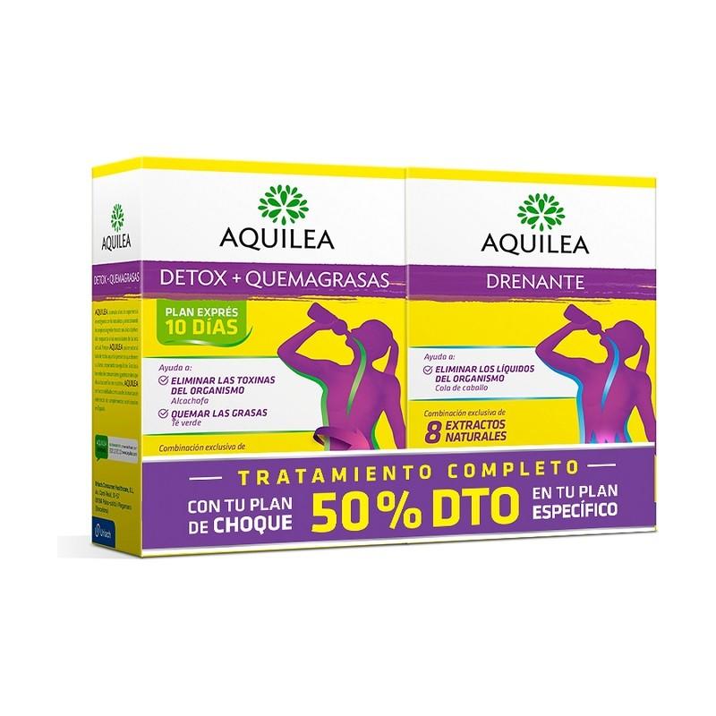 AQUILEA Detox Quemagrasas + Aquilea Drenante Pack -50%Dto