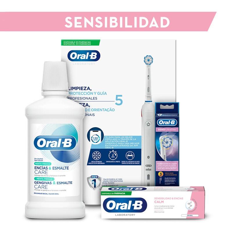 ORAL-B Pack Sensibilidad: Cepillo Eléctrico y Recambios + Dentífrico y Colutorio REGALO