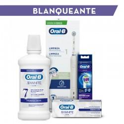 ORAL-B Pack Blanqueante: Cepillo Eléctrico y Recambios + Dentífrico y Colutorio REGALO