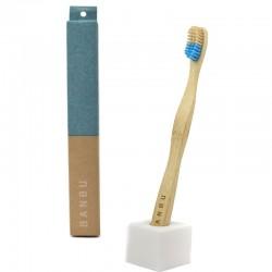 BANBU Cepillo de Dientes de Bambú Duro Azul