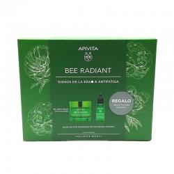 APIVITA Bee Radiant Pack Signos de la Edad y Antifatiga Gel Crema Ligera + Serum REGALO