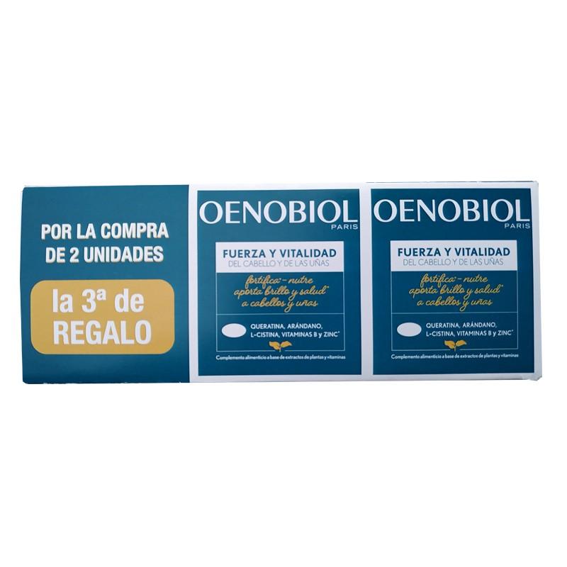 OENOBIOL Fuerza y Vitalidad Cabello y Uñas 120 + 60 comprimidos de REGALO