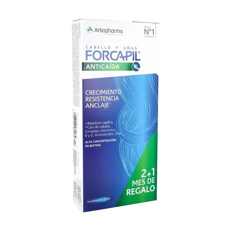 FORCAPIL Anticaída Cabello y Uñas 2+1 de REGALO (90 comprimidos) Arkopharma