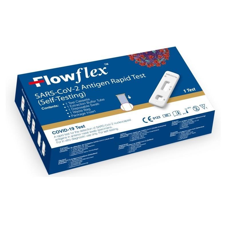 TEST COVID ANTÍGENOS Autodiagnóstico Rápido de COVID-19 Sin Receta - FlowFlex