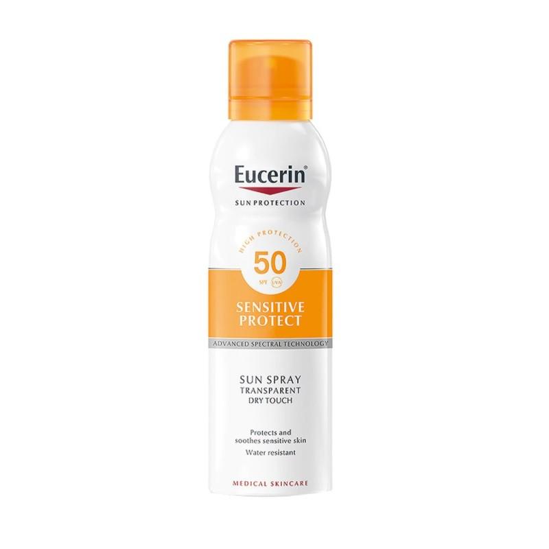 EUCERIN Spray Solar Transparente Toque Seco SPF 50+ (200ml)