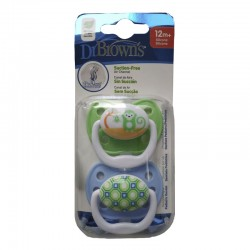 DR. BROWN'S Chupete +12 Meses Silicona Prevent 2 Unidades (Verde y Azul Monos)