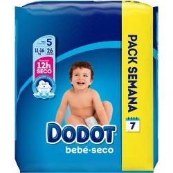 DODOT Pañal Bebé-Seco Talla 5 (11-16 Kg) 26 unidades