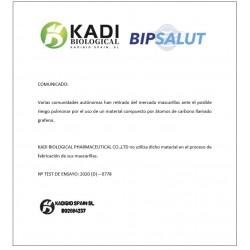 MASCARILLA FFP2 Homologada Bipsalut Certificado CE Europeo KADI 1 Mascarilla Color Mandarina