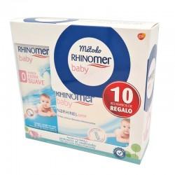 RHINOMER BABY Spray Nasal Fuerza 0 Extra Suave 115ml + 10 Recambios Blandos Desechables de REGALO