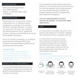 Mascarilla Transparente Homologada Reutilizable Niños (7-12 años) Blanca 1 Mascarilla - INCA