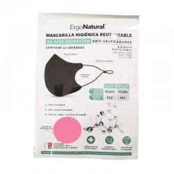 Mascarillas Reutilizables Higiénicas ERGONATURAL Rosa 2 Unidades