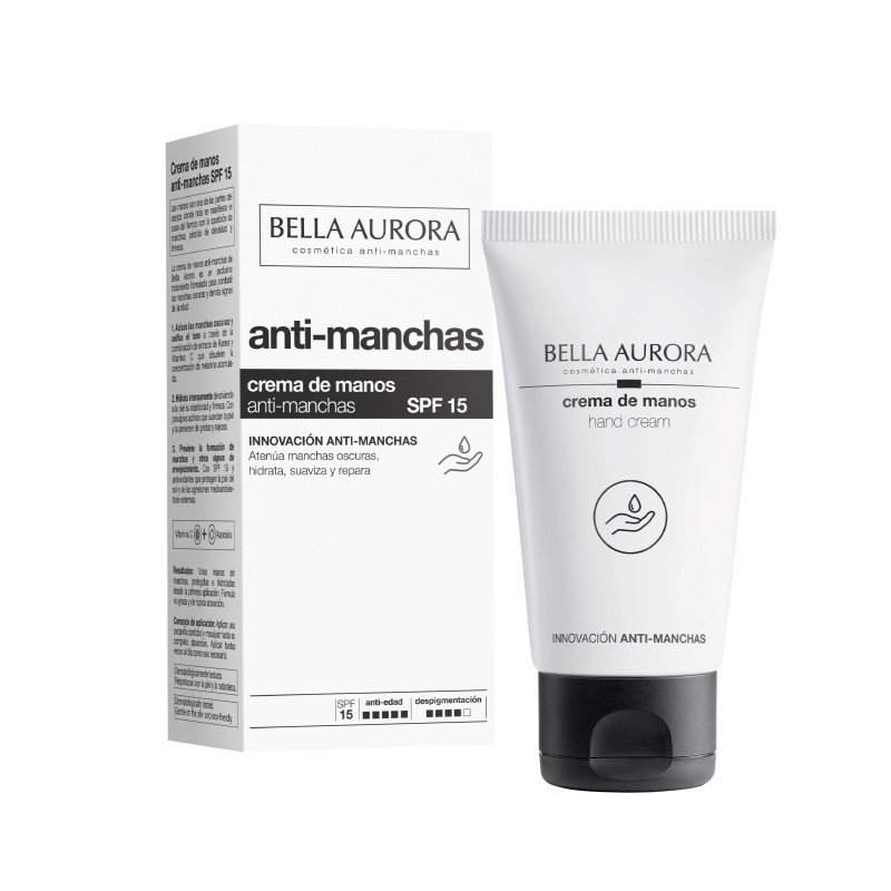 BELLA AURORA Crema de Manos Anti-Manchas SPF15 (75ml)