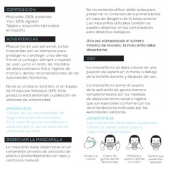 Mascarilla Homologada Reutilizable Transparente Blanca Talla Adulto 1 Mascarilla - INCA