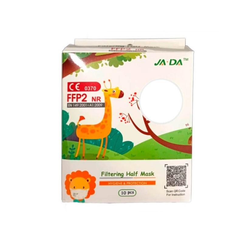 Mascarillas FFP2 Infantiles Blancas Caja 10 unidades JADA