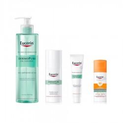 EUCERIN Pack Dermopure Gel Limpiador + Fluido Matificante + Suero Limpiador + Protector Solar de REGALO (40% DESCUENTO)