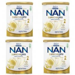 NAN Pack Supreme Pro 2 Leche de Continuación en Polvo 4x800gr