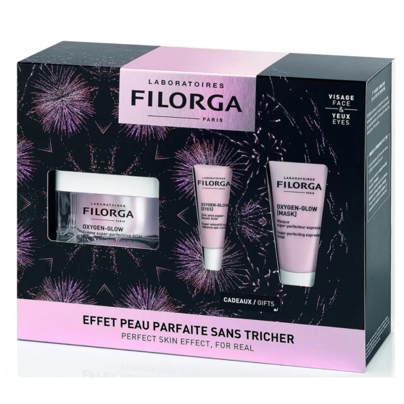 FILORGA Pack Oxygen Glow Crema 50ml + Mascarilla 15ml + Oxygen Glow Eyes 4ml