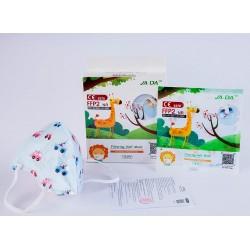Mascarillas FFP2 Infantiles Azules con Coches Caja 10 unidades JADA