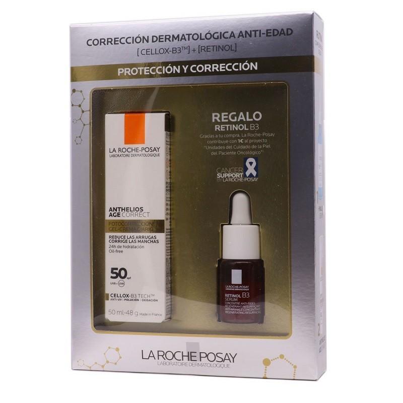 LA ROCHE POSAY Anthelios Age Correct SPF 50+ (50ml) + Retinol B3 Sérum Antiarrugas 10ml de REGALO