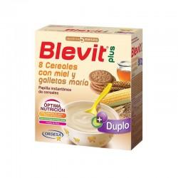 BLEVIT Plus Duplo 8 Cereales, Miel y Galletas María Papilla 600g