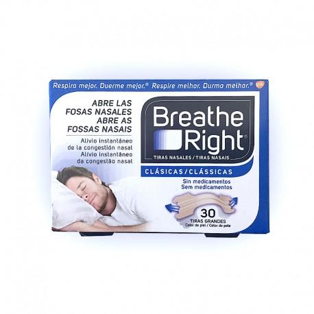 Breathe Right Tiras Nasales Clásicas Grandes. (30 unid)