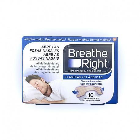 Breathe Right Tiras Nasales Clásicas Grandes. (10 unid)