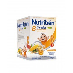 NUTRIBÉN 8 Cereales y Miel Efecto Bifidus 600G