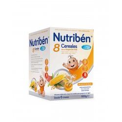 NUTRIBÉN 8 Cereales y Miel con Leche Adaptada 600G