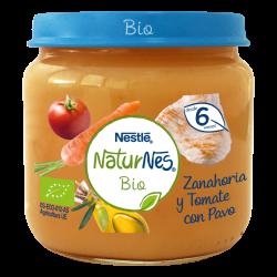 NESTLÉ Naturnes Bio Puré Zanahoria, Tomate y Pavo 200G