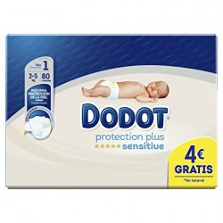 DODOT Protection Plus Sensitive Recién Nacido Talla 1 (2-5 kilos) 80 Unidades