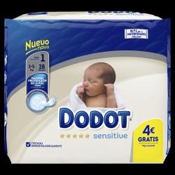 Pañal Dodot Sensitive talla 1 28 unidades