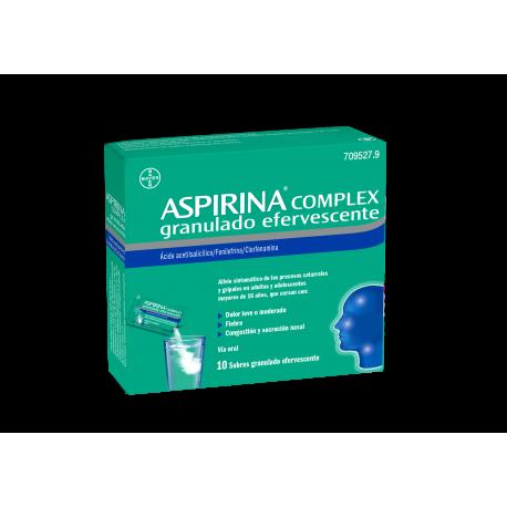 Aspirina Complex 10 Sobres Efervescentes