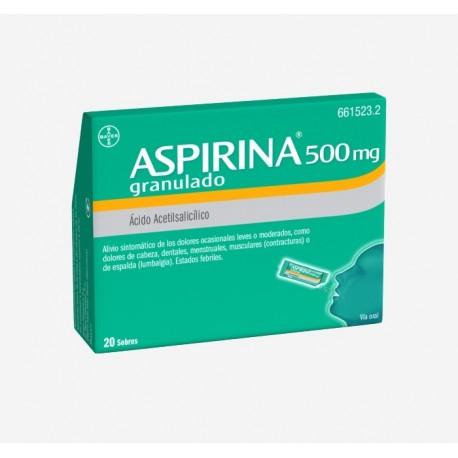 BAYER Aspirina 500 mg 20 Sobres Granulado