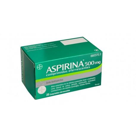 BAYER Aspirina 500mg 20 Comprimidos Efervescentes